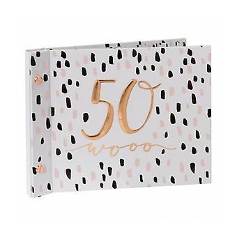Luxe Ladies 50th Birthday Photo Album Guest Book