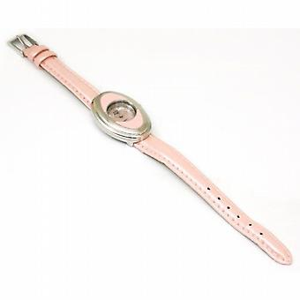 Euro D'sign Pink Strap 3 Colour Rotating Bezel Watch