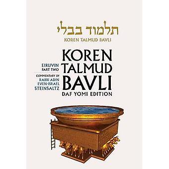 Eruvin 2 Daf Yomi by Adin Even-Israel Steinsaltz - 9789653016125 Book