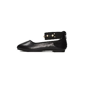 Sara Z Girls Ballerina Shoes Elastic Ankle Strap With Pearls and Studs