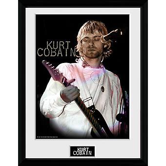 Kurt Cobain Cook gerahmt Collector Print 40x30cm