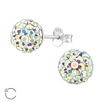 Ball crystal from Swarovski® - 925 Sterling Silver Ear Studs - W39037X
