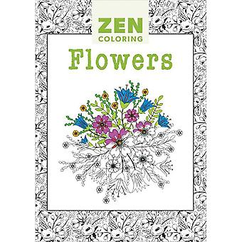Guild Of Master Craftsman Books-Zen Coloring Flowers GU-41147