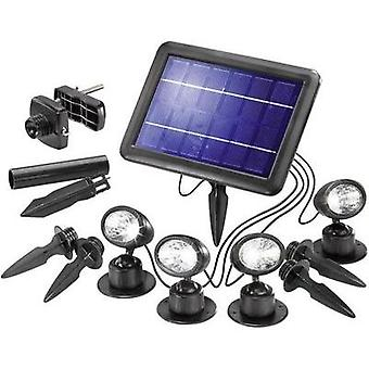 Solar spotlight 1 W Cold white Esotec 102142 Quattro Power Black