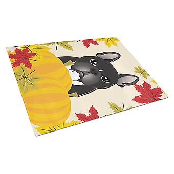 French Bulldog Thanksgiving Glass Cutting Board Large BB2033LCB