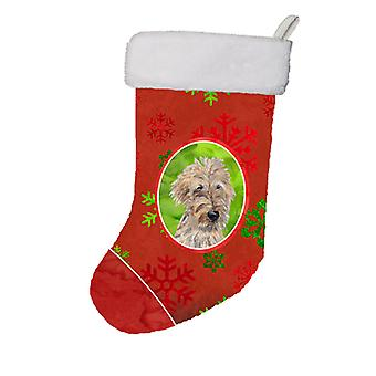 Golden Doodle Red Snowflakes Holiday Christmas Stocking SC9591-CS