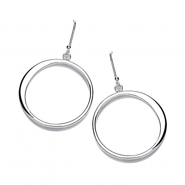 Cavendish French Graduated Silver 'O' Drop Earrings