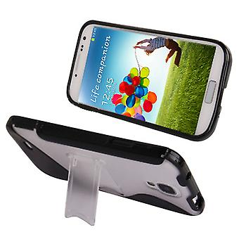 S cover with stand in plastic and TPU for Samsung Galaxy S4 i9500 (black)