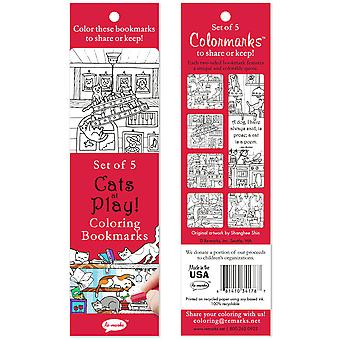 Coloring Bookmarks 5/Pkg-Cats At Play 6814-34178