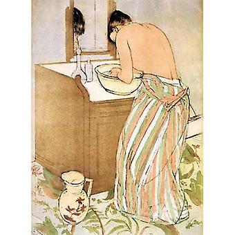Woman Bathing I 1891 Poster Print by  Mary Cassatt