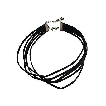 Vijflaagse minimalist statement choker necklace