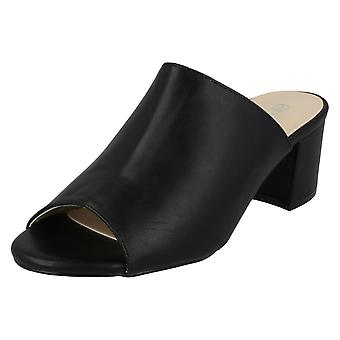 Kära Anne Michelle Chunky häl Mule sandaler F10664