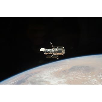 Hubble Telescope - telescope in space Poster Print Giclee