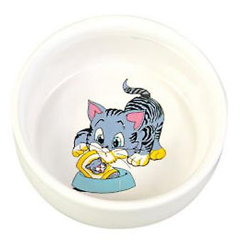 Trixie Ceramic Food Bowl in White - 0,3 L / Ø 121 cm