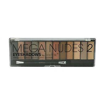 Technic Mega Nudes 2 Eyeshadows 12 Colours