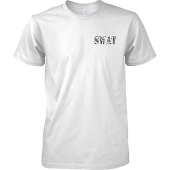 SWAT - Special Weapons And Tactics - Elite Police Tactical Unit - Mens Chest Design T-Shirt