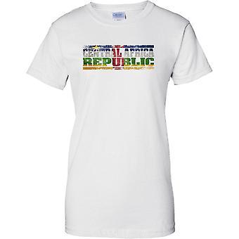 Centraal Afrika Republiek Grunge land naam vlag Effect - T damesshirt