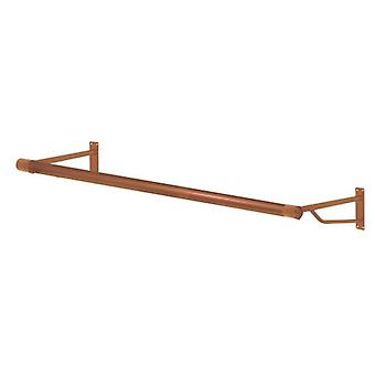 4ft Metallic Copper Finish Wall Mounted Rail with brackets from Caraselle - Brand New
