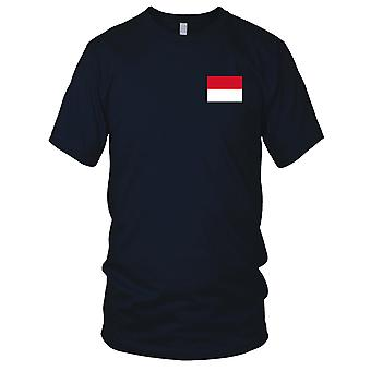 Monaco Country National Flag - Embroidered Logo - 100% Cotton T-Shirt Kids T Shirt