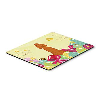 Easter Eggs Irish Setter Mouse Pad, Hot Pad or Trivet