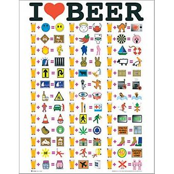 I Love Beer Poster Poster Print