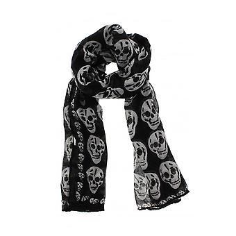 Attityd kläder svart dödskalle halsduk