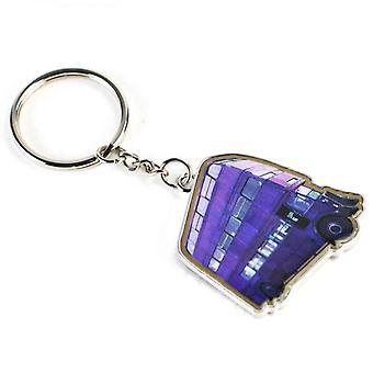Harry Potter Keyring Knight Bus new Official Purple Metal Keychain