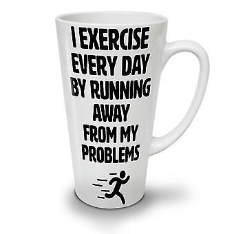 Run Away Problem Funny NEW White Tea Coffee Ceramic Latte Mug 17 oz | Wellcoda