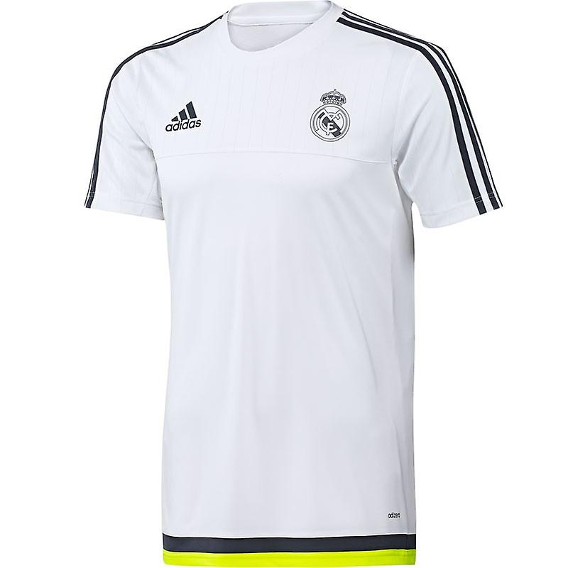 2015-2016 Real Madrid Adidas Training Shirt (White) - Kids