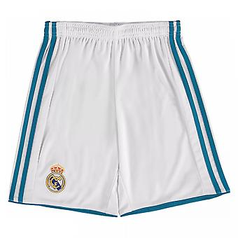 2017-2018 real Madrid Adidas Home Shorts (wit) - Kids