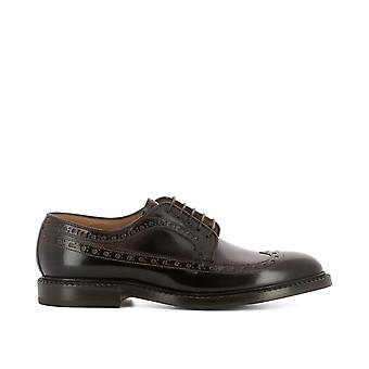 FABI men's FU7747 brown leather lace-up shoes