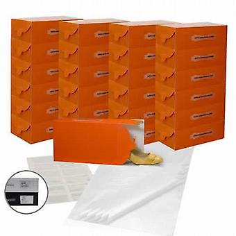 Shoe-Stacking Set (25 Tangerine Boxes, 12 Pockets & 25 Tissue Sheets)