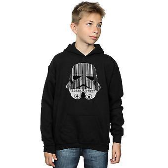 Star Wars Boys Stormtrooper Barcode  Helmet Hoodie