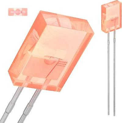 LED wired Red Rectangular 5.06 x 2.11 mm 3.5 mcd