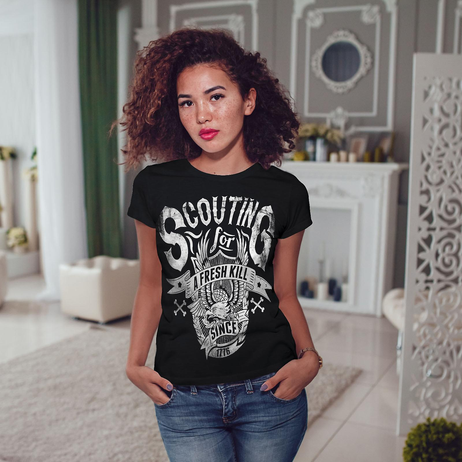 Scouting For Kill Women BlackT-shirt | Wellcoda