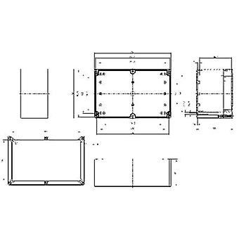 Build-in casing 252 x 162 x 120 Polycarbonate (PC) Light grey (RAL 7035)