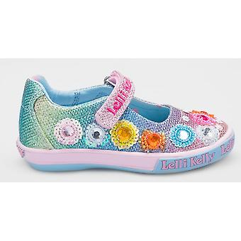 Lelli Kelly Millesole LK5070 chicas Multi color brillo zapatos de lona con regalo gratis
