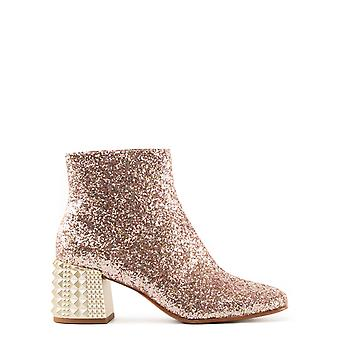 Ladies ELECTRA02 pink glitter boots ash