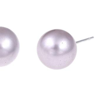 Pearl Style Pendant Stud Earrings