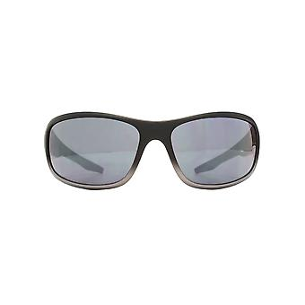 FCUK Sports Wrap Sunglasses In Matte Black Grey Gradient
