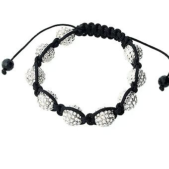 Iced out unisex bracelet - disco ball NINE clear