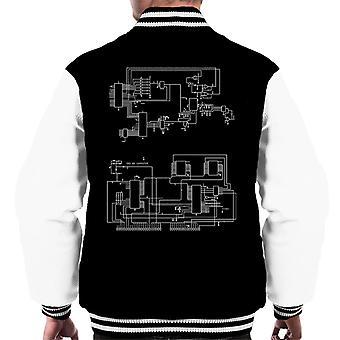 TRS 80 Computer Schematic Men's Varsity Jacket