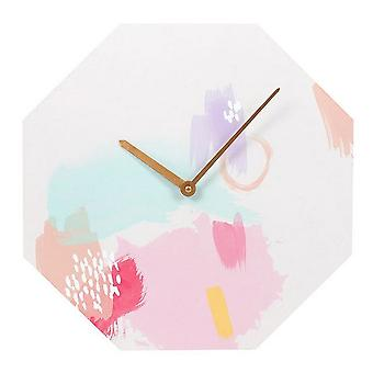 Something Different Live Colourfully Octagon Clock