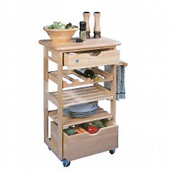 Compact Kitchen Trolley Fully Assembled