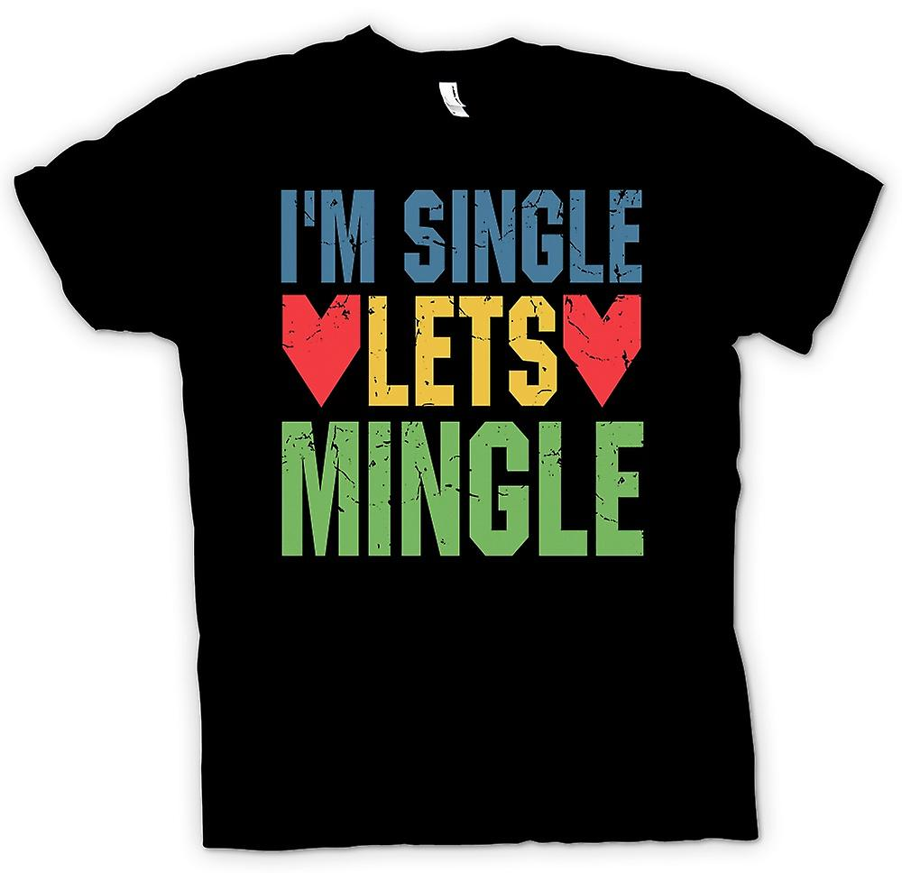 Mens T-shirt - Im Single Lets Mingle - Funny