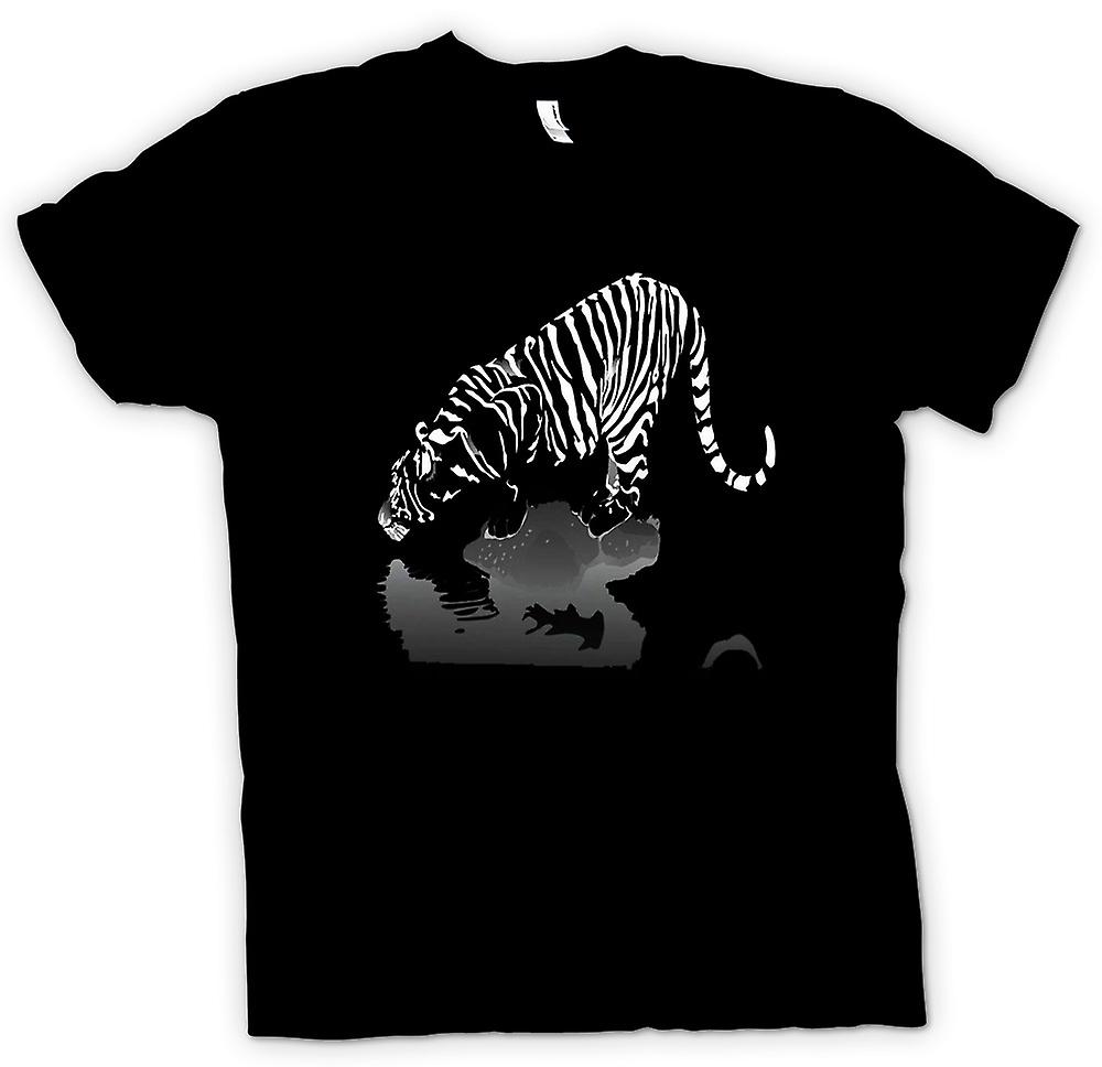Mens T-shirt - Artistic Tiger Print