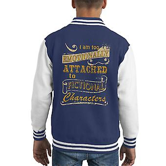 Emotionally Attached To Fictional Characters Kid's Varsity Jacket