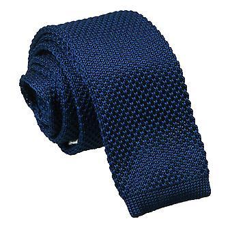 Navy Blau gestrickt schmaler Krawatte