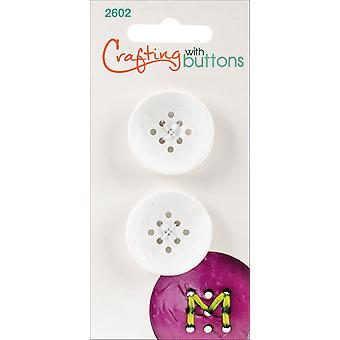 9 Hole Buttons-Small White 1
