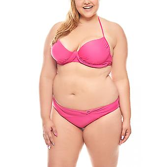 Push-Up bikini D cup big bust large size pink heine